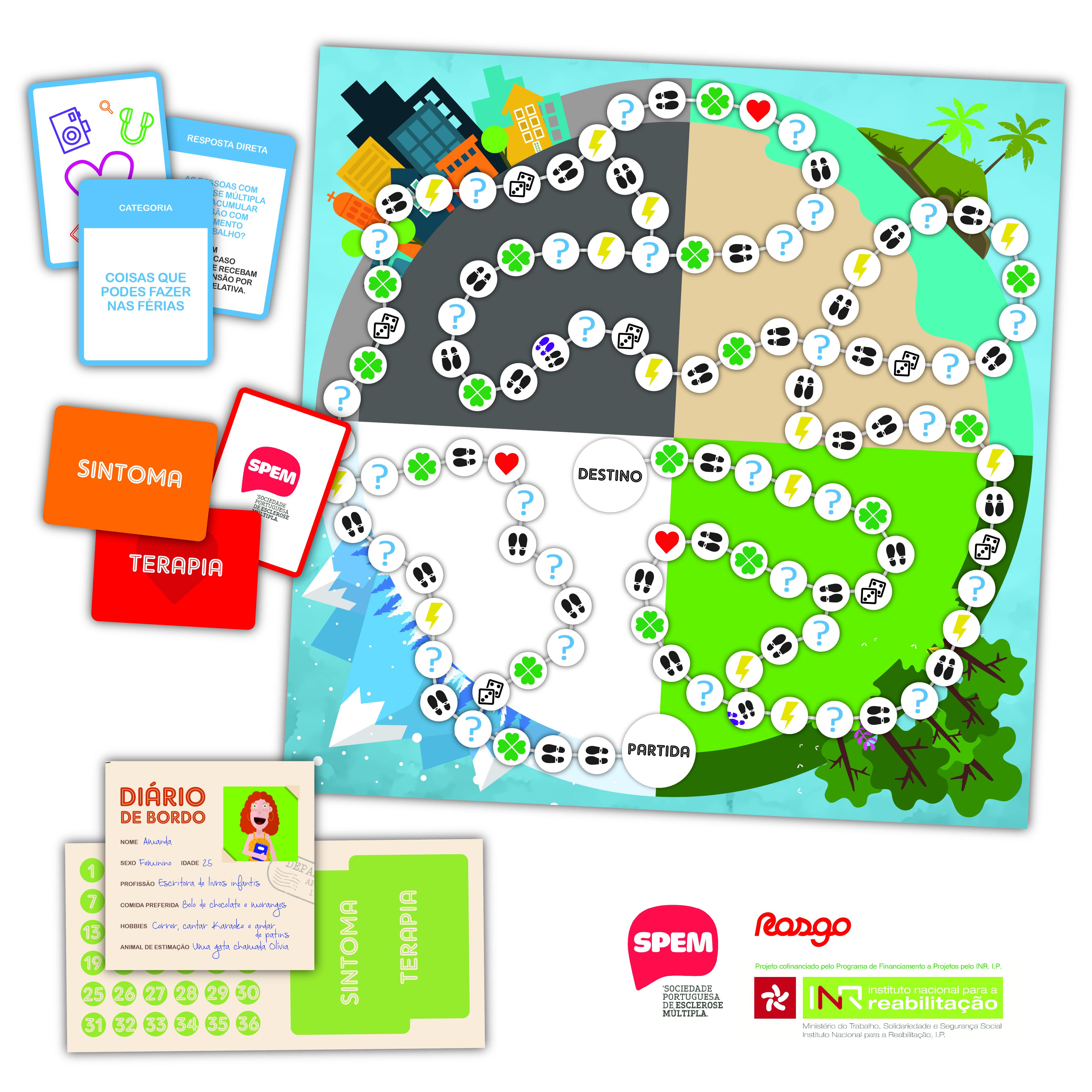 """""""A Viagem"""": jogo de tabuleiro sobre a Esclerose Múltipla"""